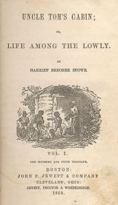 Title-page illustration by Hammatt Billings for Uncle Tom's Cabin [First Edition: Boston: John P. Jewett and Company, 1852].