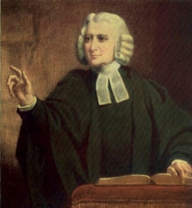 Charles Wesley preaching, by William Gush.