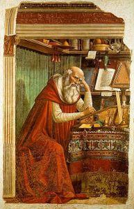 Saint Jerome in his Study, by Domenico Ghirlandaio