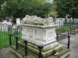 John Bunyan's  grave at Bunhill Fields, London.