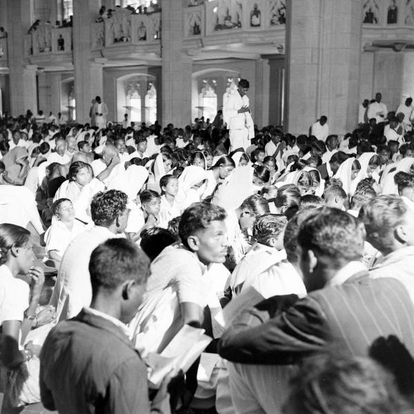 Inauguration service of Church of South India. Photo by Mark Kauffman (LIFE magazine)