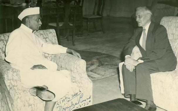 Dr. Stanley Jones with Dr. Rajendra Prasad, first President of India 1950