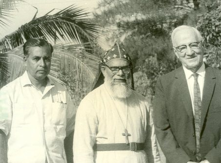 E.Stanley Jones with Alexander Mar Thoma  Metropolitan at Sat Tal Ashram, India.