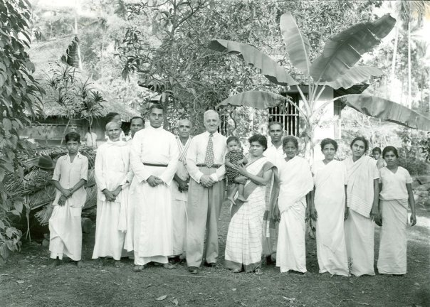 Rev. Stanley Jones with Mar Thoma Church members in  Kerala, India.
