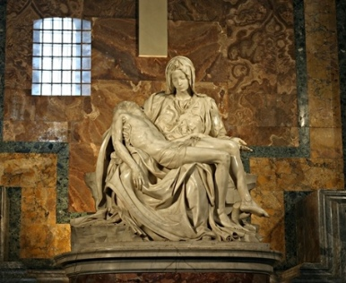 Michelangelo's Pieta at St Peter's Basilica (1498–99)