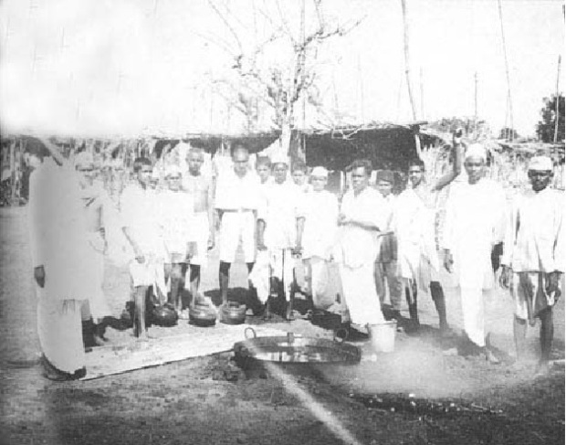 Titusji at the Dandi Salt March (4th from right) 1930