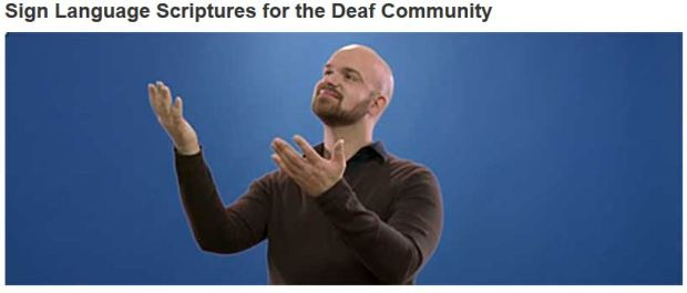 Bible for Deaf community